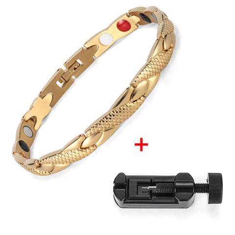 Health Elements 31 Jewelry Steel Care Women Bracelet