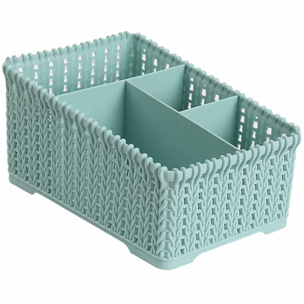 Półki na biurko schowek trwały plastikowy organizer na kosmetyki pudełko typu organizer pudełko na chusteczki przechowywanie małych przedmiotów