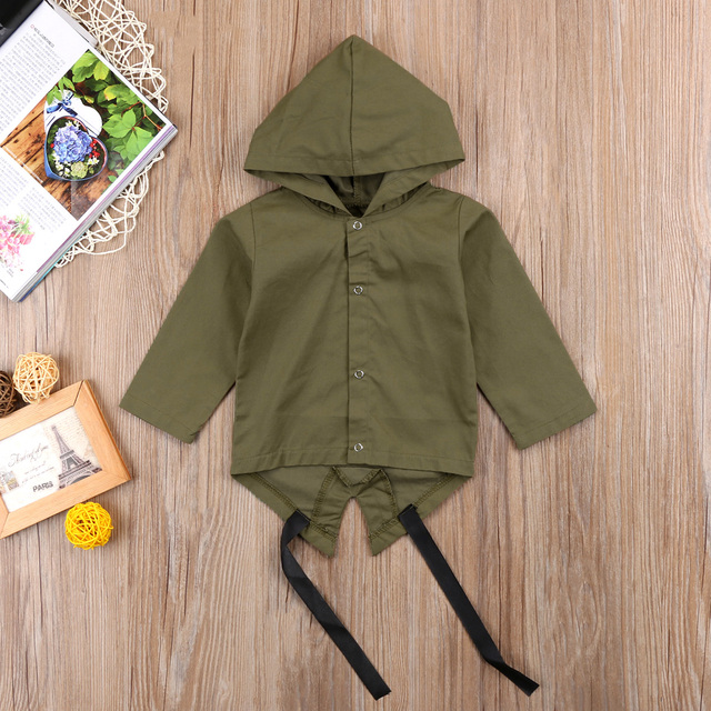 Newborn Baby Boys Clothes Long Sleeve Hooded Coat 100% Cotton Outerwear Jacket 1