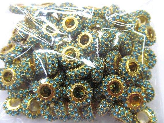 high qualtiy 100pcs 8-12mm Alloy Rhinestone Spacer disc rondelle Connector sideways Bead gold silver tone ,aqua blue red pink gr aqua aqualon brown зимний 15m 0 12mm 8 40kg