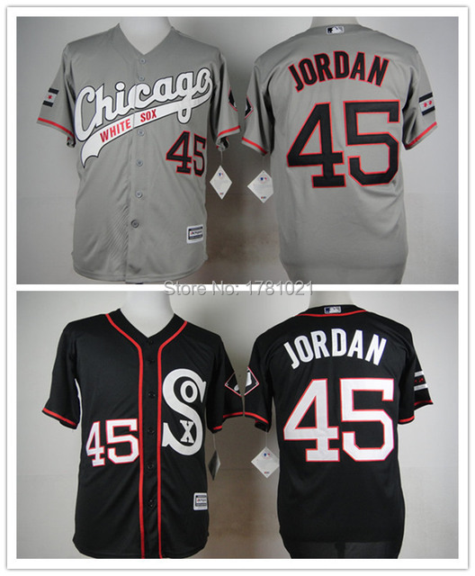 59b284aad60e Cheap Wholesale New Style Men s Chicago White Sox Baseball Jersey  45  Michael Jordan Jersey Best Quality Stitched