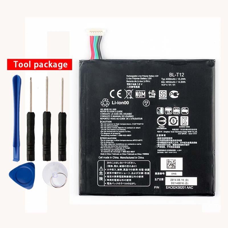 Original High Capacity BL-T12 Battery for LG G pad 7.0 V400 V410 4000mAh