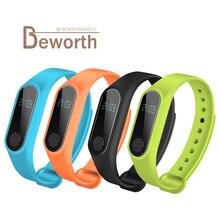 M2 Smart Gelang Heart Rate Monitor Bluetooth Smartband Kesihatan Kecergasan Tracker Pedometer Band Wristband untuk Android iOS T4