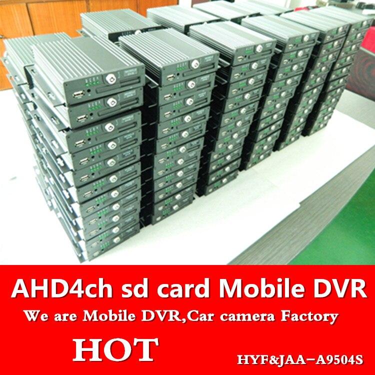 Mdvr ahd 4 route HD coaxial de voiture enregistreur vidéo 720 P/960 P HD moniteur hôte vidéo surveillance 4ch carte sd mobile dvr
