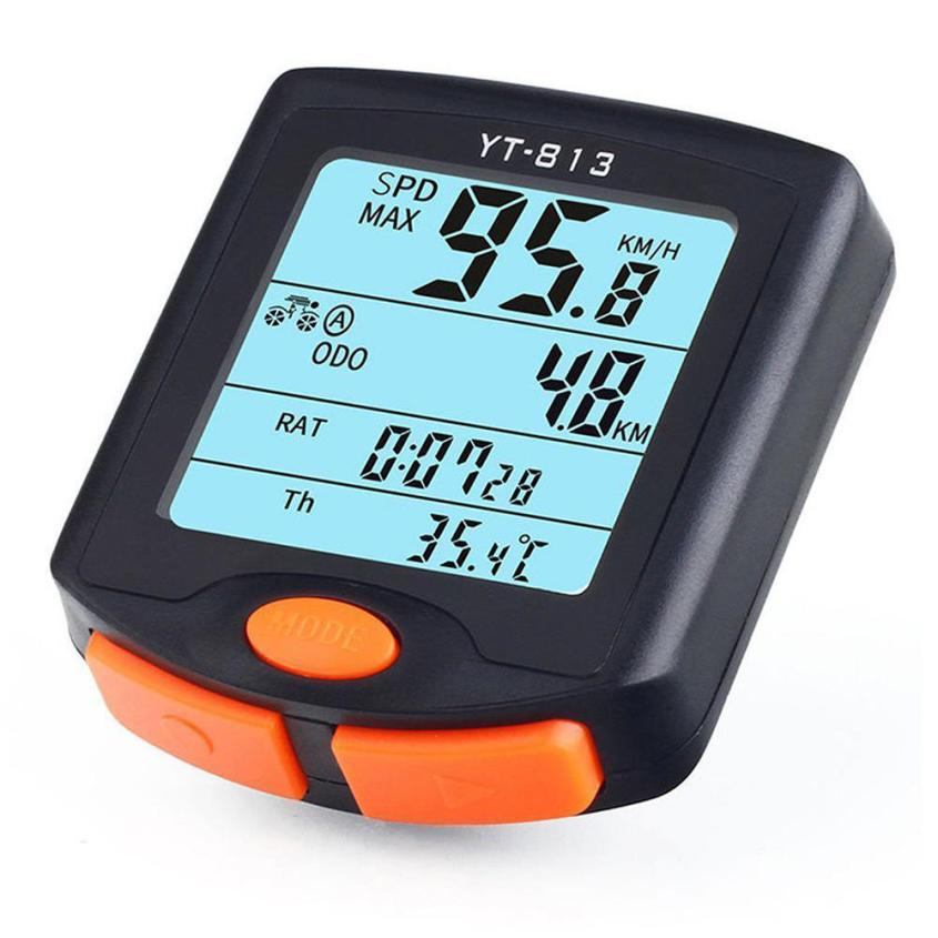 MUQGEW New Arrival Useful Outdoor Bike Cycling Bicycle Cycle Computer Odometer Speedometer Backlight Good Choice Men's Useful