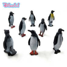 8Pcs/Set Simulation cute penguin sea animal model plastic doll pvc action figure DIY Decoration hot set toys for children gift купить недорого в Москве