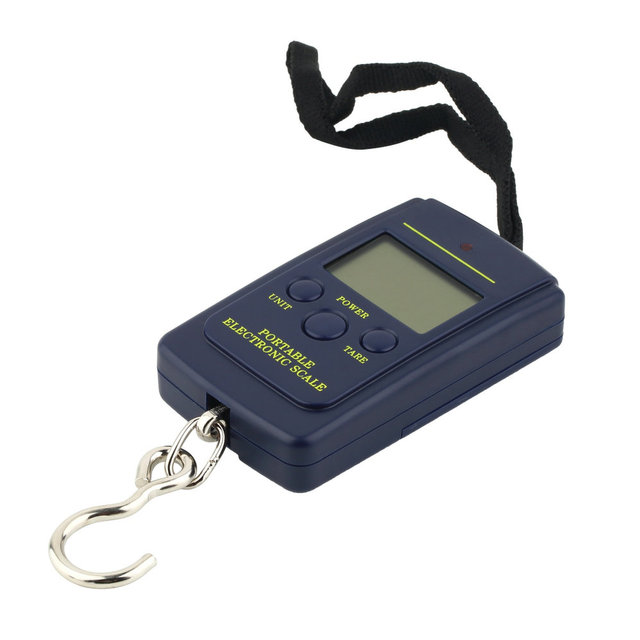 Portable 40kg/10g Electronic Hanging Fishing Digital Pocket Weight Hook Scale free shipping