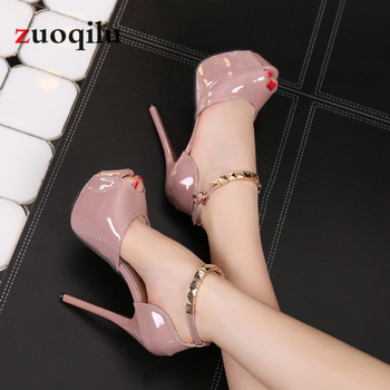 Peep Toe Platform High heels Pumps Women Shoes 2020 women heels sandals wedding shoes Sandalia Feminina 14 CM heels byqdy wholesale girls spring sexy high heels women platform shoes peep toe pumps autumn wedding shoes women crystal pumps party