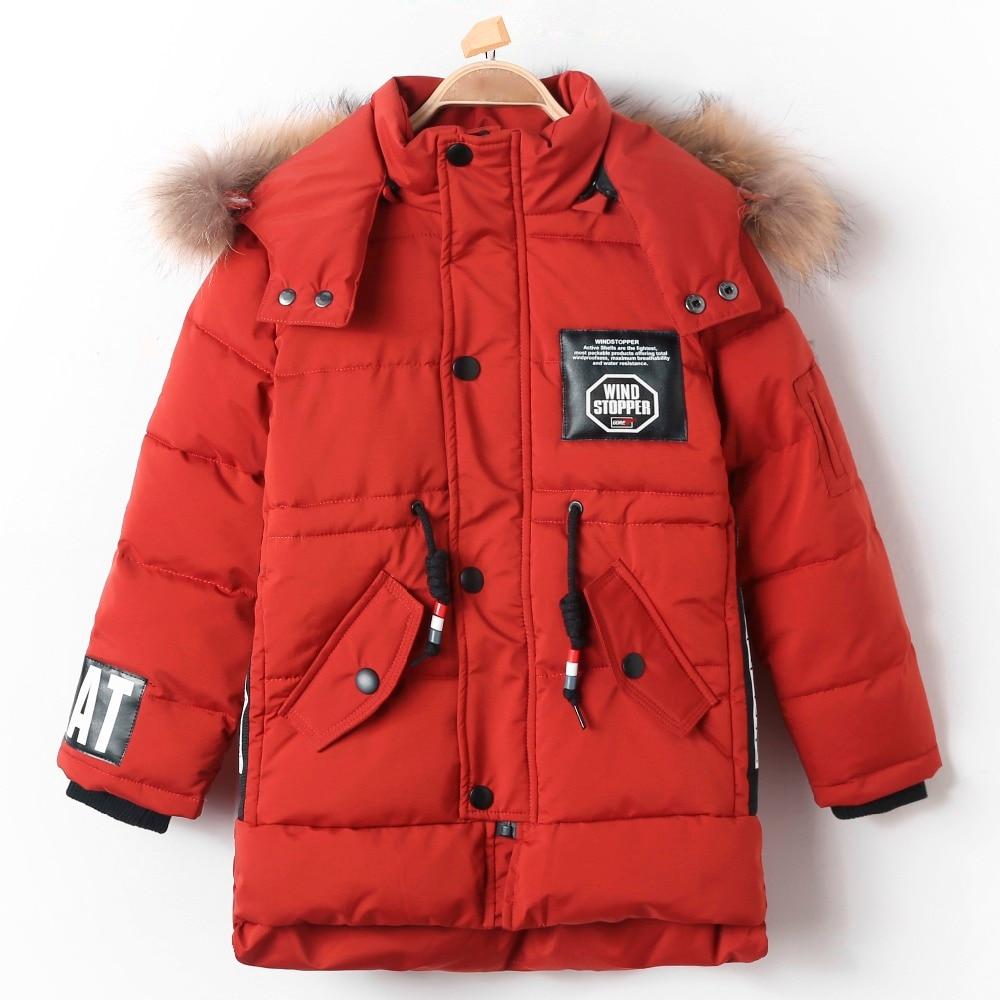 Long Down Jacket Padded Plus Velvet Thick Fur Hooded Thermal Kid Parka for Children Boy Winter Warm Coat Snow Wear Windproof Top цены онлайн