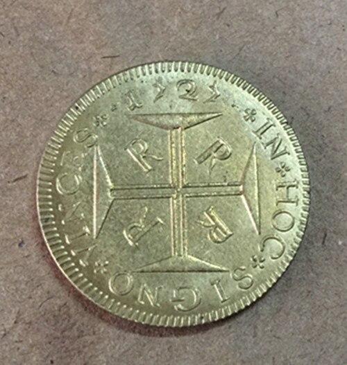 1727 (R) Бразилия 4000 Reis-Жоао V Копировать Золотая монета