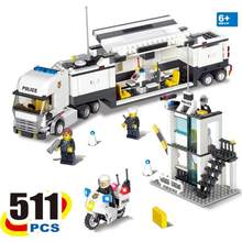 Kazi Building Blocks Toys City Police Station Command Vehicle Blocks brinquedos Compatible with Legoings(China)