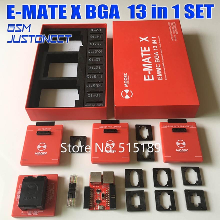 Date Emate box e-mate X EMMC BGA 13 en 1 Support BGA100/136/168/153/169/162/186/221/529/254//pour Easy jtag plus boîte UFI