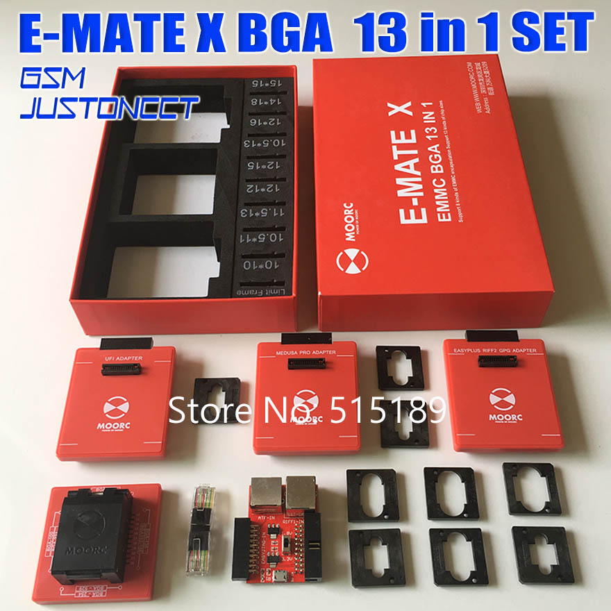 Newest Emate <font><b>box</b></font> <font><b>E</b></font>-<font><b>mate</b></font> X EMMC BGA 13 IN 1 Support BGA100/136/168/153/169/162/186/221/529/254 for Easy jtag plus UFI <font><b>box</b></font> image