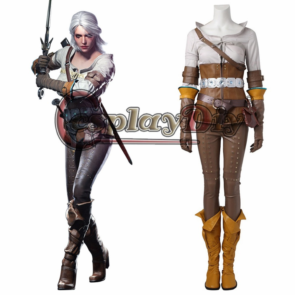 Cosplaydiy The Witcher 3: Wild Hunt Cirilla Adult Women Cosplay Costume For Halloween Carnival Cosplay Outfit Custom Made J5