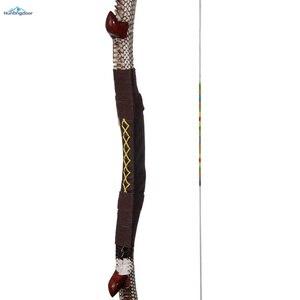 Image 4 - Okçuluk olimpik yay geleneksel ahşap yay ağırlığı 35lbs,40lbs,45lbs,50lbs açık av yayı 57 inç kaldırma ve sağ yay yetişkin için