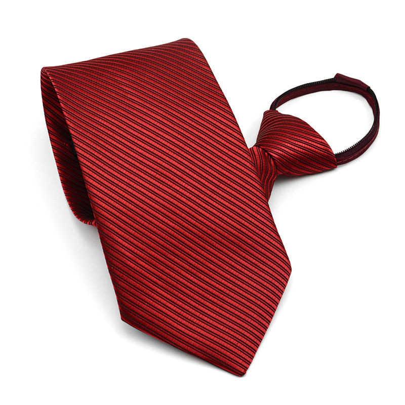 男性ビジネスドレス簡単にプルネクタイスーツフォーマルな対角ストライプネクタイ結婚式の新郎花婿の付添人男性のため Neckcloth