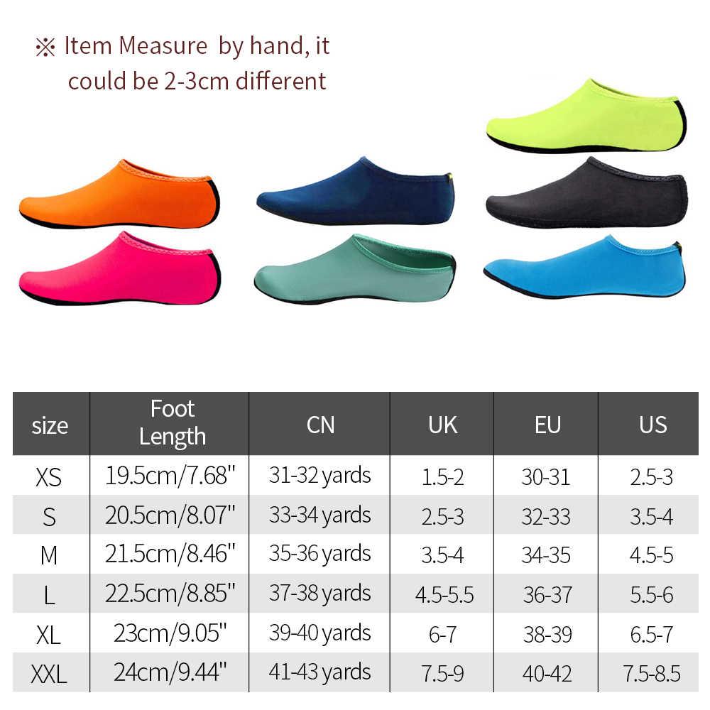Yüzme Su Aqua Ayakkabı Erkekler Kadınlar Plaj Kamp Ayakkabı Yetişkin Unisex Aqua Düz Yumuşak Yürüyüş Sevgilisi yoga Ayakkabı Olmayan kayma sneakers