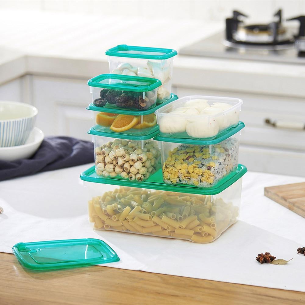 17 Pcs Multi Purpose PP Microwave Boxes Sealed Crisper Refrigerator Storage Organizer Lunch Box WXV Sale in Storage Boxes Bins from Home Garden