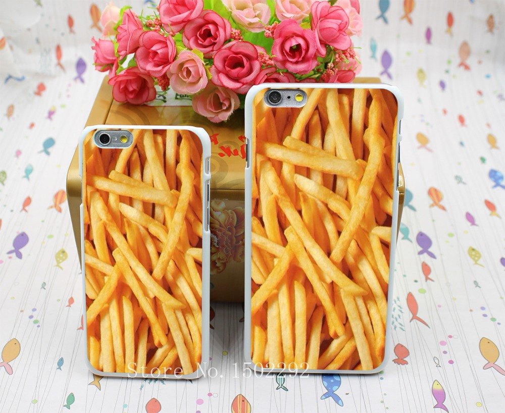 New Arrival Food French Fries Funny Unique Retro Joke Back Skin Case for iPhone 6 6s 6 plus Protect Cell Phone Cover