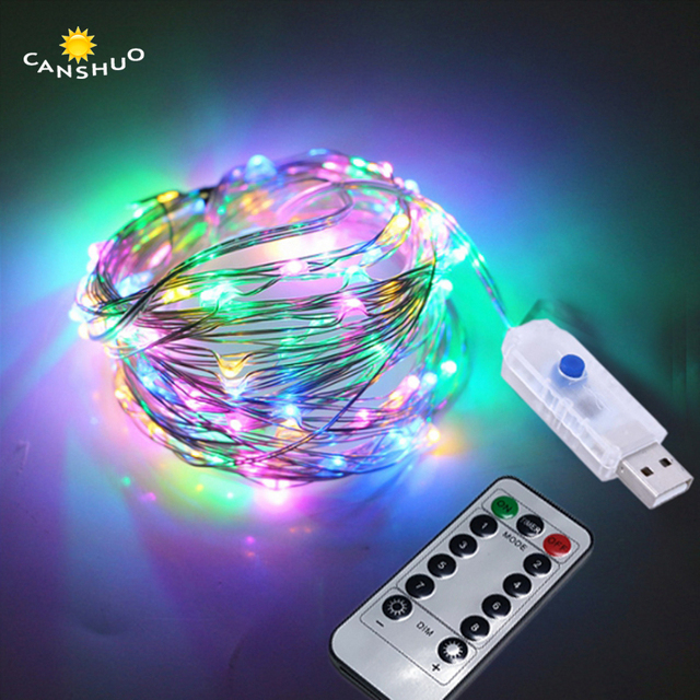 USB 5V LED String 10M/5M Silver Copper Wire Fairy String Lights with ...
