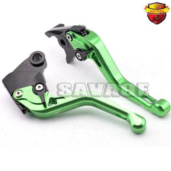 ФОТО For KAWASAKI Z750 2007-2012 Green Motorcycle Accessories CNC Billet Aluminum Short Brake Clutch Levers logo Z750