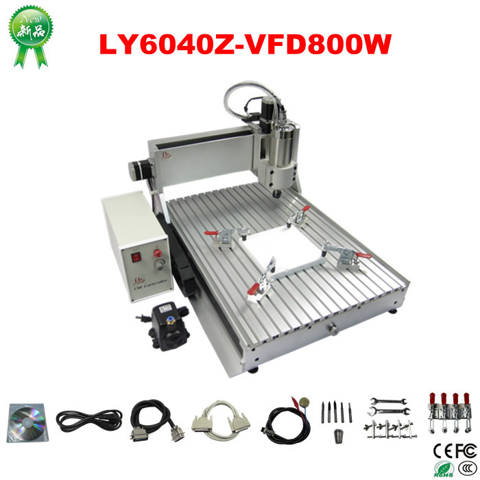 800w cnc wood carving machine 6040 cnc machinery to EU country free tax metal engraving machine 3040 engraver 800w cnc machine to eu country free tax