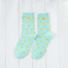 Cartoon Cute Animal Duck Pattened Short Socks Fashion Cute Women Funny Socks Female Casual Cotton Ankle Socks Harajuku Sox