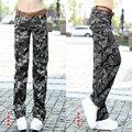 Verão novos chegada das mulheres calças de Camuflagem femininos calças retas casual calças de Camuflagem macacão feminino para fora da porta de Carga Z955
