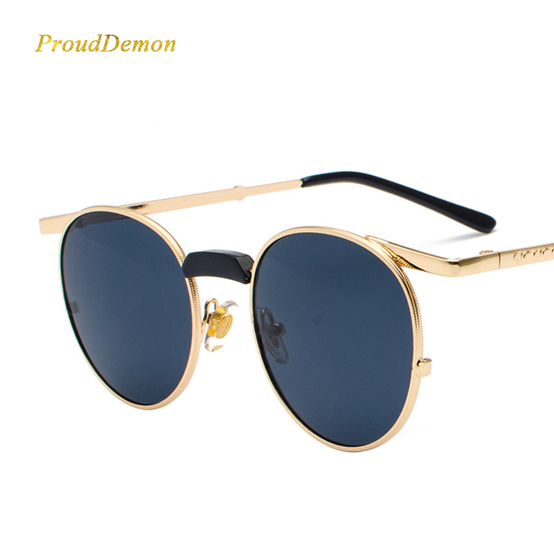 Prouddemon Round Sunglasses Women Fashion Vintage Brand New-Arrival UV400 Oculos-De-Sol