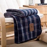Herbst Winter Hohe Qualität 100% Wolle decke Plaid Japan Stil heimtextilien dick sofa auto dekorative bettwäsche einzel wirft