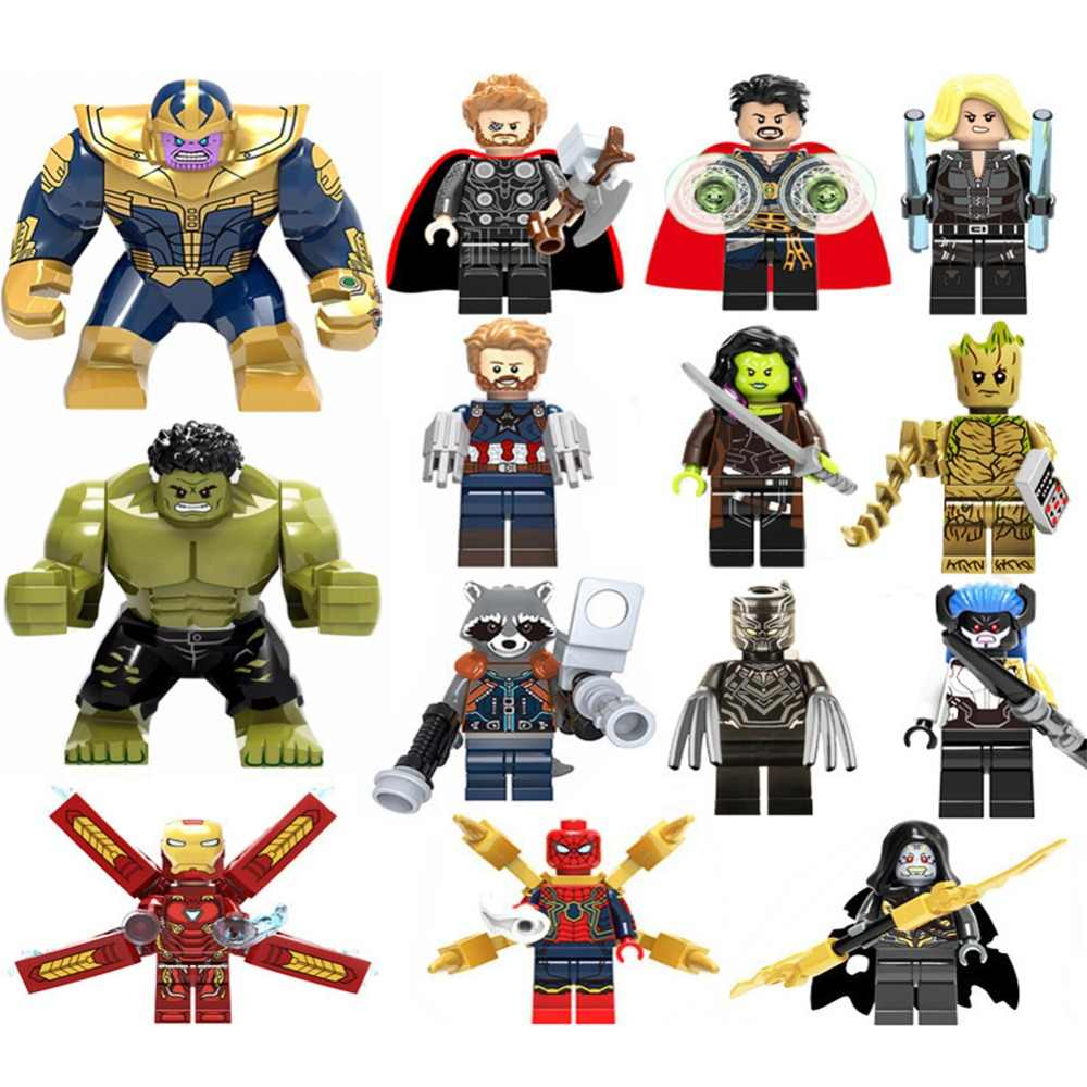 Thanos Infinity Gauntlet Gifts For Children Avengers3 Infinity War Iron Man Building Blocks Compatible LegoINGly Hulk Toys zk20