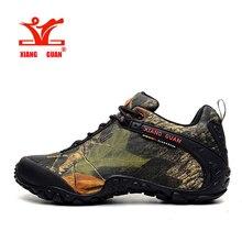 XIANGGUAN Camo Hiking Shoes Man Waterproof Sneakers Climbing Shoe Woman Camouflage Mountain Boot Large Size euro 36-48 us Four-15