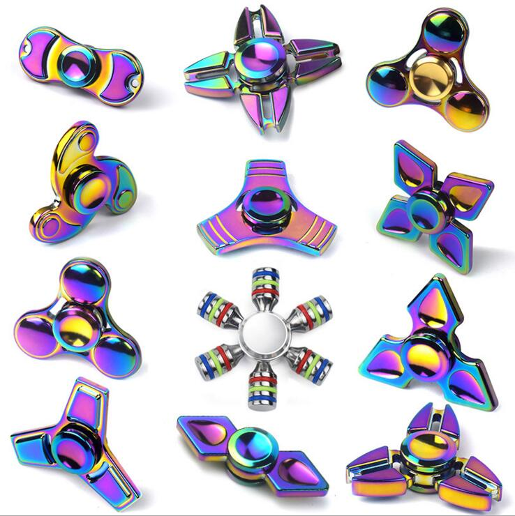 Fidget Finger Hand Spinner Colorful Metal Hand Spinner Cool Aluminium Alloy Spiner Toys Paars Professional Titanium
