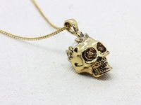 WLN0433 Free Shipping Good Quality Steel Skull Bones Pendants 2 Metal Color Necklaces For Man Fashion