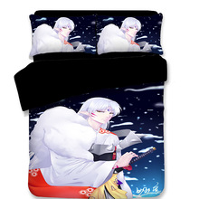 WAZIR Cartoon Inuyasha Printed bedding set 10 Size comforter sets One Piece bedclothes bed linen duvet cover Pillowcases