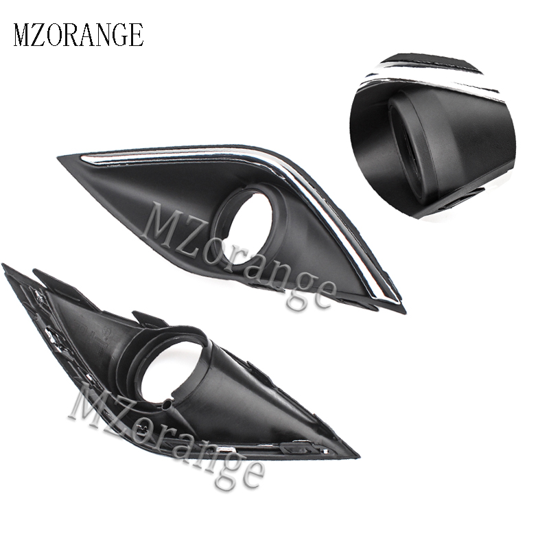 MZORANGE 1PC FogLamp Hoods Fog Light font b Lamp b font Bezel Cover Side For Mitsubishi