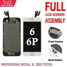 Full Set LCD für iPhone 6G 6 Plus LCD mit Home Button Frontkamera Komplette Montage Display Touchscreen digitizer Ersatz