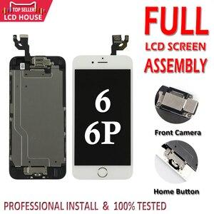Image 1 - Full Set LCD für iPhone 6G 6 Plus LCD mit Home Button Frontkamera Komplette Montage Display Touchscreen digitizer Ersatz