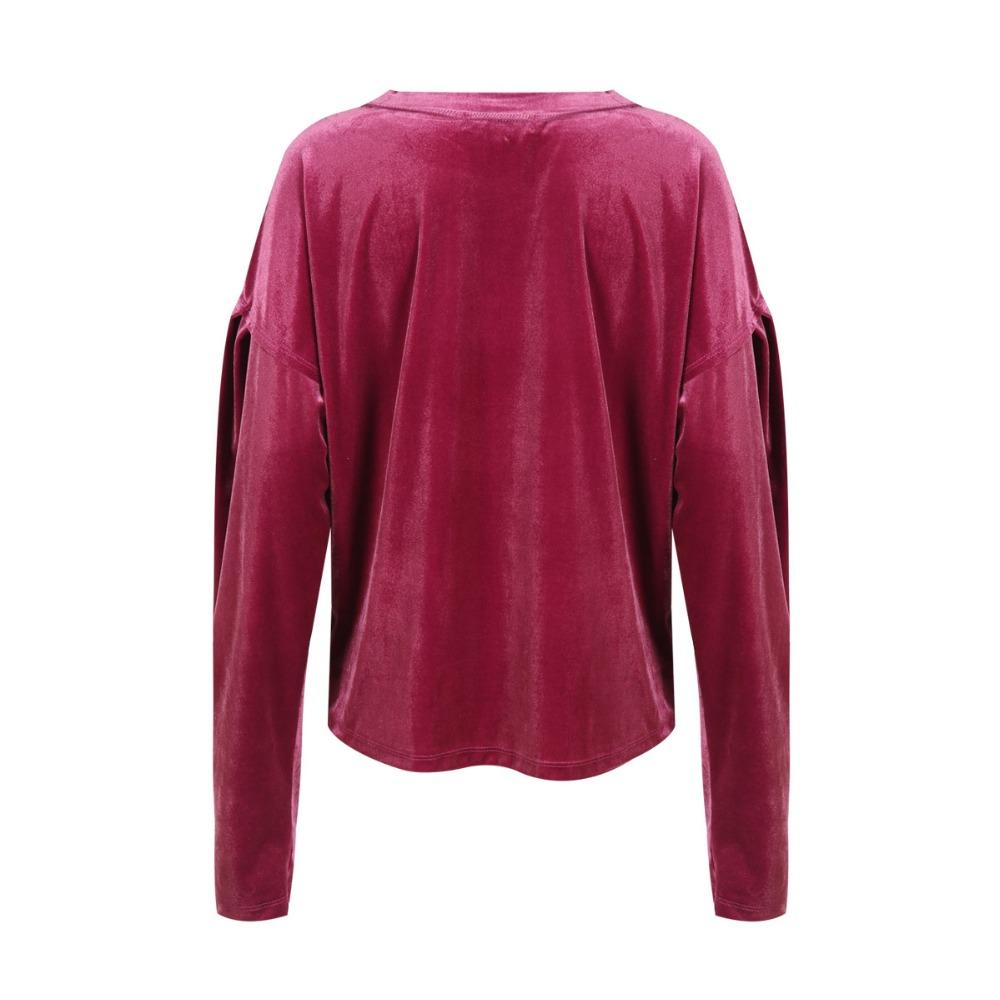 HDY Haoduoyi Women Purple Velvet Hoodies Long Sleeve Casual Sweatshirts Sweet Loose Pullovers 2017 Autumn Winter Tops Female new 11