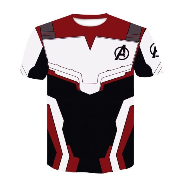 fddbb31e0e6 Vengadores 4 Endgame Quantum War 3D impreso camisetas hombres camisa de  compresión Iron man Cosplay traje de manga larga para hombre