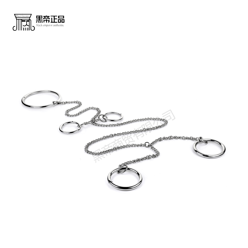 Stainless steel Round bdsm collar handcuffs for sex bondage set restraints with chain sex slave adult game sex toys for couples adult sex products bondage restraints 10 pieces set sex toys for couples handcuffs whip gag for adult slave game erotic toys