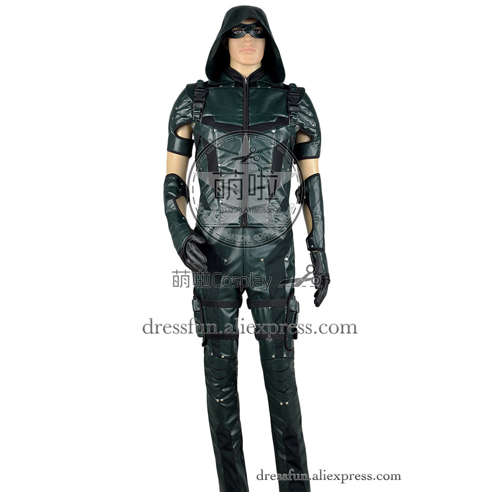 Arrow Movie Film Cosplay Oliver Queen Costume New Version Uniform Hoodie Halloween Combat Uniform Outfits