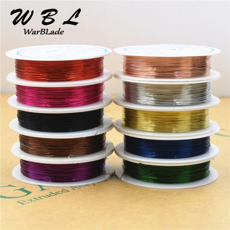 40m 0.25/0.3/0.4/0.5/0.6/0.8/1.0mm Copper Wire Silver Gold Copper Metal Wires Beading Thread String Beads For DIY Jewelry Making