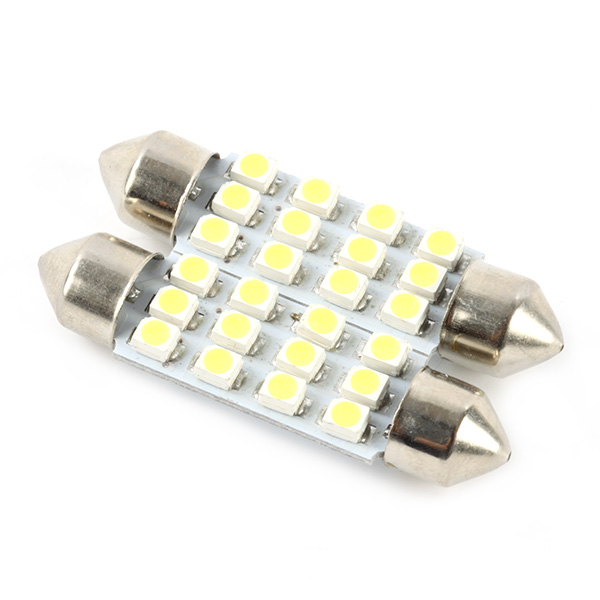 5Pcs 12SMD 12V White LED Auto Car Reading Lights Automobiles Light-emitting License Plate Small Lamp Bulbs