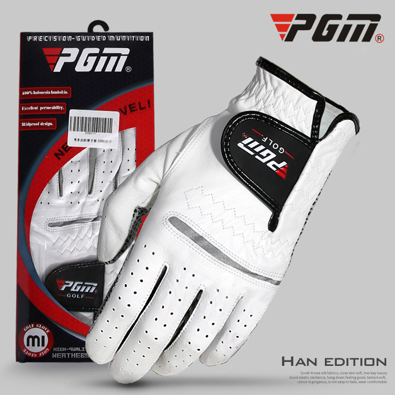 1pcs Golf Gloves Men's Left Right Hand Soft Breathable Pure Sheepskin With Anti-slip Granules Golf Gloves Golf Men цена и фото