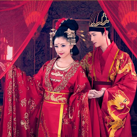 China Lovers Cosume for Couples Hanfu Love Story of the Desert  wife and husband s Costume Beautiful Actor Actress