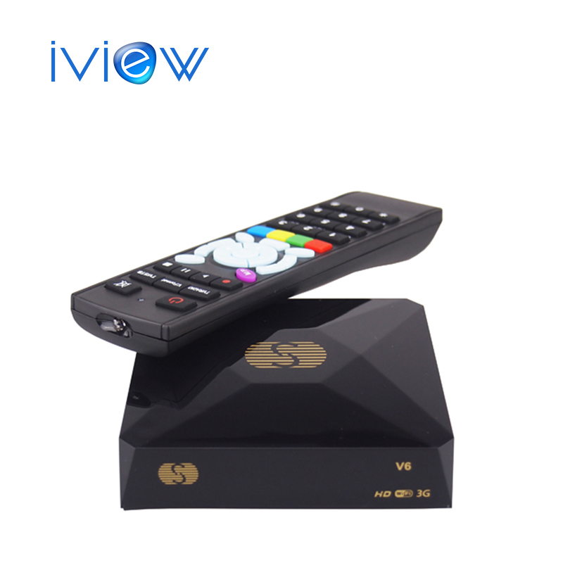 [Genuine] For Russian Original S-V6 HD Satellite Receiver V6 S Support  CCCAMD Newcamd WEB TV USB Wifi 3G Biss Key Youporn