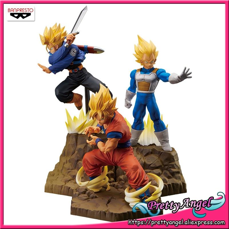 PrettyAngel Genuine Banpresto Absolute Perfection Figure Dragon Ball Z Super Saiyan Goku Vegeta Trunks Collection Figure