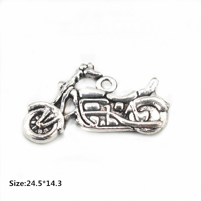 Hot Sale 20pcs/lot Lobster Clasp Dangle Charms Siler Alloy motorcycle Fit Necklace Bracelet Charms DIY Fashion Jewelry