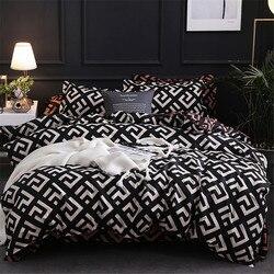 Modern geometrik kaliforniya kral yatak setleri zımpara yorgan yatak örtüsü seti yastık kılıfı nevresim takımı 229*260 3 adet yatak takımı
